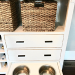 DIY Dog Bowl Storage
